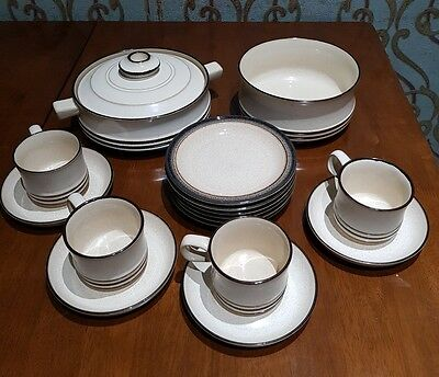 Denby cream and brown set