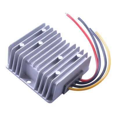 Silver Gray Dampproof DC12V Step Up to 24V 240W 10A Car Power Converter Adaptor