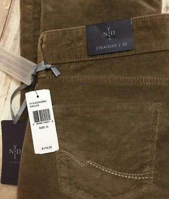 NWT Corduroy BRULEE Marilyn NYDJ Not Your Daughters Jeans Straight Leg Size 10