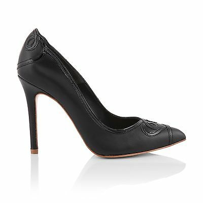 Charlotte Mills Ana Black Shoes, Size 4 Party Shoes
