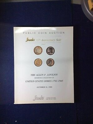Allen F. Lovejoy Reference Collection US Dimes Catalog 1990