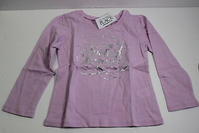 NEW The Children's Place Purple L/S Shirt Spoiled By Grandma 18-24 Months Girls