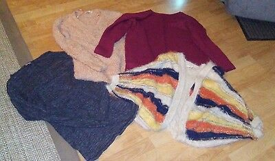 Lot of 4 Women's sweaters VERY NICE Max Edition Honigman Double Zero M/L