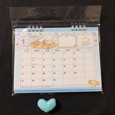 Sanrio Cinnamoroll 2018 Desktop Ring Binded Calendar Kawaii JAPAN NEW