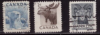 Canada # 322-23-24 USED lot of 3 stamps -469