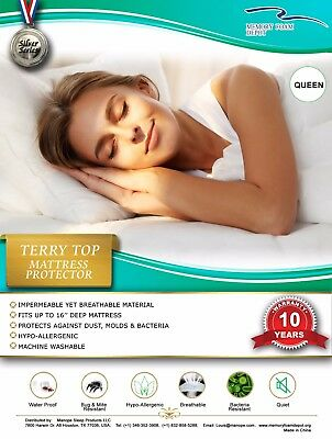 Mattress Protector Terry top,(fitter sheet) style, easy to remove ande wash ande