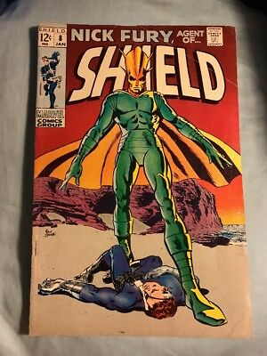 Nick Fury Agent of SHIELD #8 Silver Age Marvel Comics Very Good