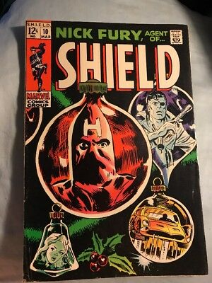 Nick Fury Agent of SHIELD #10 Silver Age Marvel Comics Very Good
