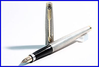 Parker USA 925 STERLING SILBER # 75  Füller EF 585 Gold Feder / fountain pen