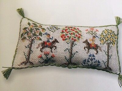 lovely handstitched 1/2 scale  huntsman long cushion
