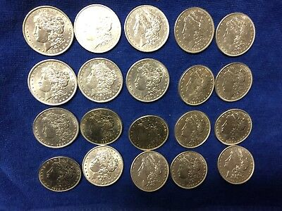 Roll of 90% Silver Morgan Dollars (Variety of dates) Almost Uncirculated