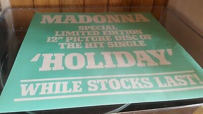 madonna holiday original picture disc inlay promo card .mint condition