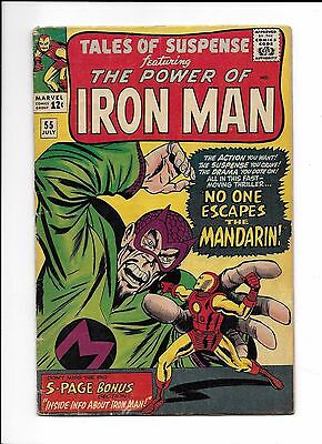 """TALES OF SUSPENSE #55  -  VG  4.0  -  """"No One Escapes the The Mandarin"""""""