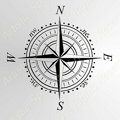 Wind Rose BIG SIZES Reusable Stencil Wall Decor Decoration Travel Orient COMPASS