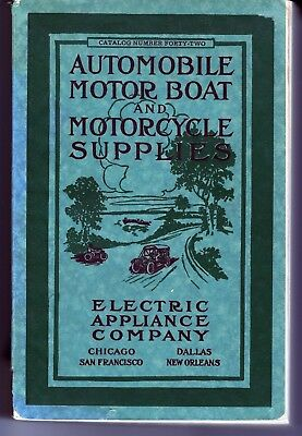 TRADE CATALOG-Electric Appliance Co Automobile Motor Boat & Motorcycle supplies