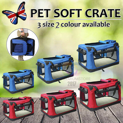 Pet Dog Cat Fabric Soft Portable Crate Kennel Cage Carrier House Bag 2 Color New