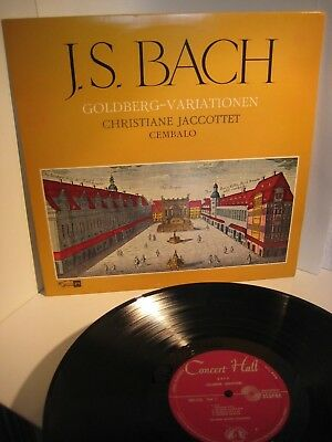 RARE Bach/Jaccottet 'Goldberg Variations' Concert Hall Stereo SMS 2531  nm