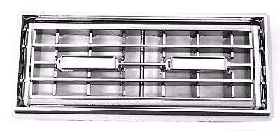 A/C heater vent sleeper berth chrome plastic Kenworth 2 louvers with frame