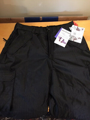 Pulse Snowboard Pants Men's Size XL Snow Ski Black Excellent New with Tags