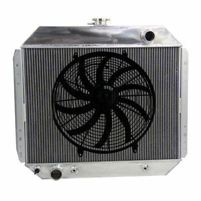 "3Row Alloy Radiator + 16""Fan Fit Ford F350 Truck 302ci,351ci,360c,390 ci,400ci"
