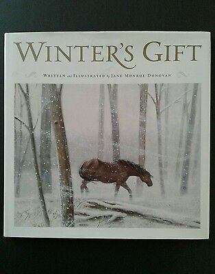 """Horse Christmas Story Book """"Winter's Gift"""" By Jane Monroe Donovan"""