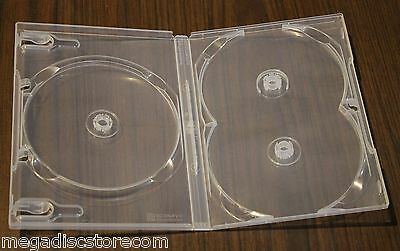 NEW 2 Pk Scanavo Clear Standard 3 DVD Case Box 14 mm Triple Discs Holder No Tray