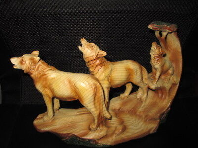 Wolves Beautiful Detailed, Western Rustic Home Decor, Sculpture,art