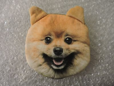 Coin Purse, Dog Face 100% Polyester soft w/Polyurethane foam Inner, Pomeranian