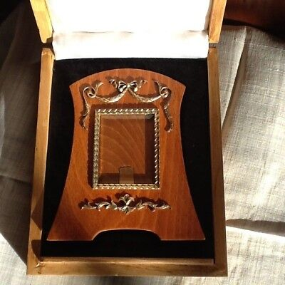 Lovely Russian Fabergé Revival Silver & Wood Photo Frame Hallmarked circa 1990