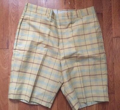 Vintage 60s Mr.Levis Plaid Yellow Shorts As Is