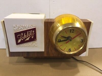 Vintage 1965 Schlitz Lighted Motion Beer Barrel Keg Sign. Clock Cash Register.