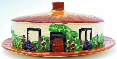 EMPIRE WARE - Cottage Round Butter/Cheese Covered Dish - Tudor Series  - c1937