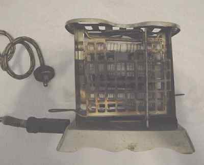 Vintage Antique Electric Swinger Toaster Very Heavy Early Model Unknown Maker