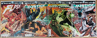 Bats Out of Hell NM Connecting Cover Lot Dark Nights Metal Tie-In Complete