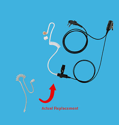 1-Wire In-Ear Style Earpiece + Replacement Coiled Tube for Hytera TC-510 TC-610