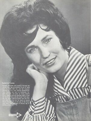 "Loretta Lynn, Country Music Star in 1968 Magazine Print Photo Clipping ""Update"""