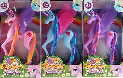 Set Of 3 Girls Unicorn Toys - Blue Pink Purple - Bulk Buy Value Set