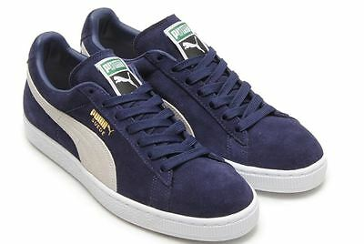 PUMA SUEDE CLASSIC + Navy White Men Fashion Sneakers 356568