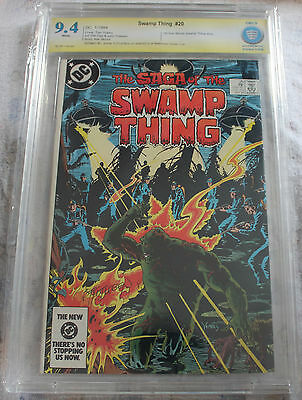 Swamp Thing #20 CBCS 9.4 (Not CGC) Signed by Totleben 1st Alan Moore Issue