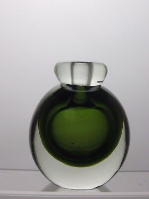 Collectable Green  And White Fragrance Perfume Bottle