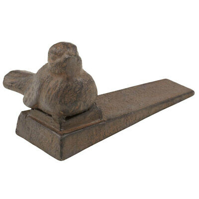 Amalfi Rudy Door Stop/Stopper Rustic Handmade Home Decor Cast Iron 12cm Bird
