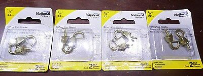 "4 NATIONAL N119-909, SAFETY CUP HOOKS 7/8"" 4 pks of 2  [KC51]"