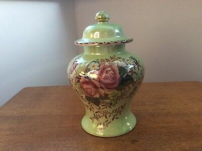 """Maling Rosalind/6545 """"Temple""""Lidded Jar - Excellent condition. Collectors piece."""