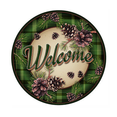 Welcome Pinecones Novelty Sign | Funny Home Décor Garage Wall Plastic Gag Gift