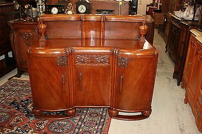 Exquisite English Antique Solid Oak Art deco Sideboard / Buffet / Bar.