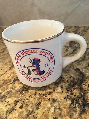 Vintage BSA Coffee Mug National Scout Jamboree 1964 Valley Forge Boy Scouts USA