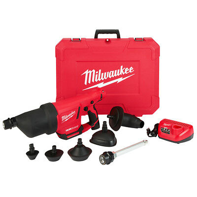 Milwaukee 2572B-21 12-Volt Airsnake Drain Cleaning Air Gun Kit w/ Attachments