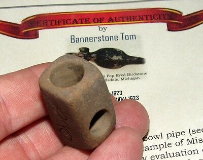 Authentic Ft Ancient Peace Pipe Scioto Co Ohio Indian Artifact COA Arrowhead
