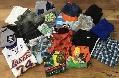 BOYS SZ 8    BULK clothing  -  NIKE ADIDAS PIPING HOT NINJA TURTLES GAP