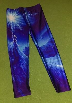 Girls Extra Large (approx 10/12) leggings Disney Frozen Elsa Ice Magic Let it Go